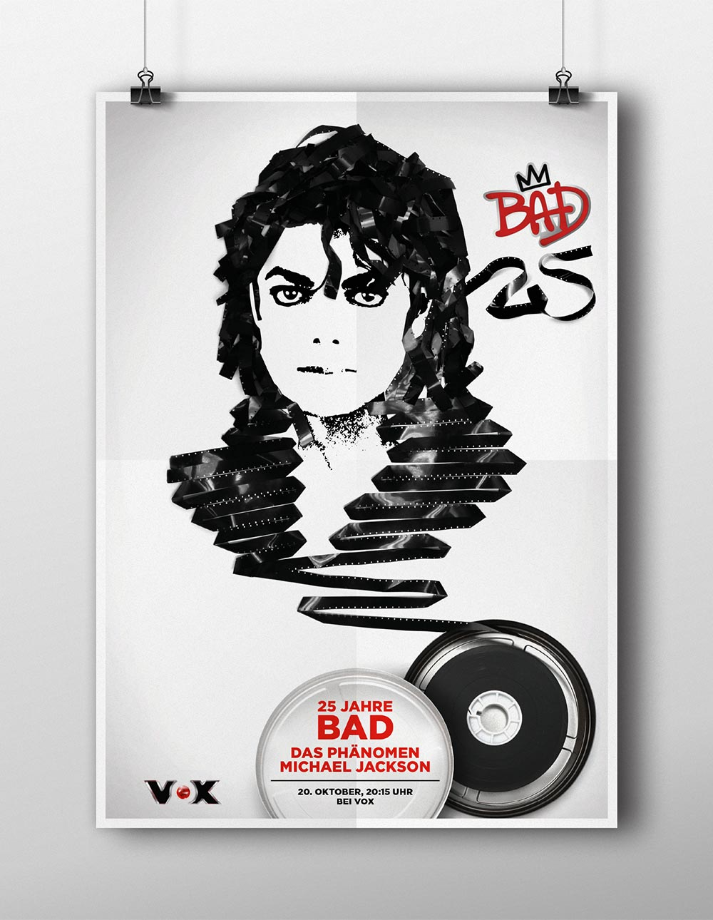 VOX 25 years Michael Jackson's BAD Key Visual - Björn Siems