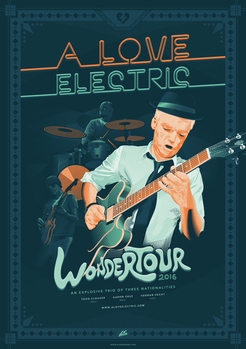 A Love Electric Wondertour 2016 Poster - Björn Siems