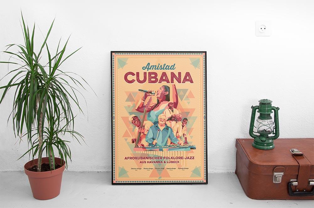 Amistad Cubana Tour 2016 Poster Wohnzimmer - Björn Siems