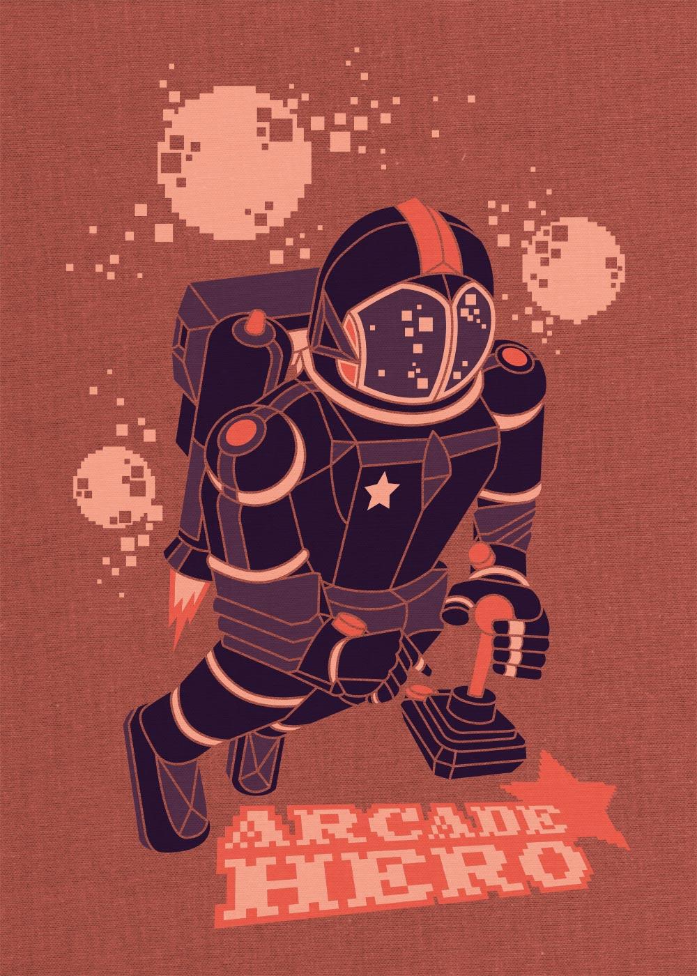 Arcade Hero Illustration Design - Björn Siems