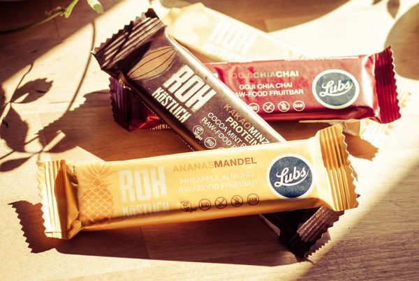 Lubs Raw-food bar packaging teaser - Björn Siems