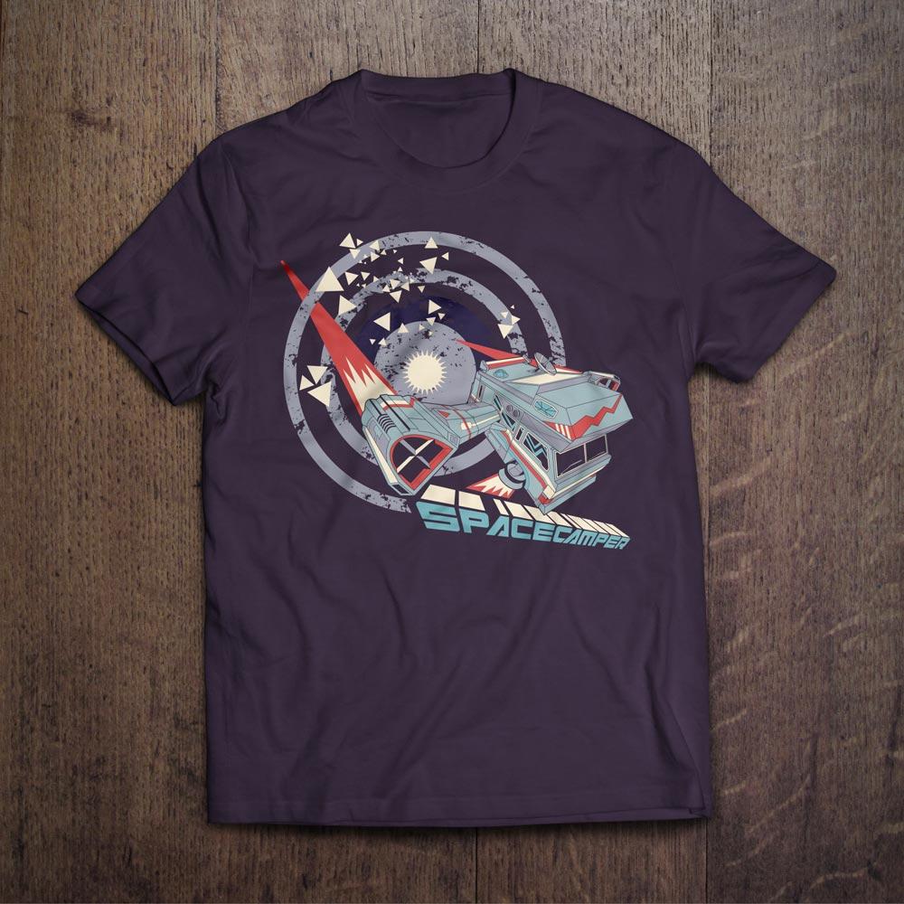 Space Camper T-Shirt Design - Björn Siems