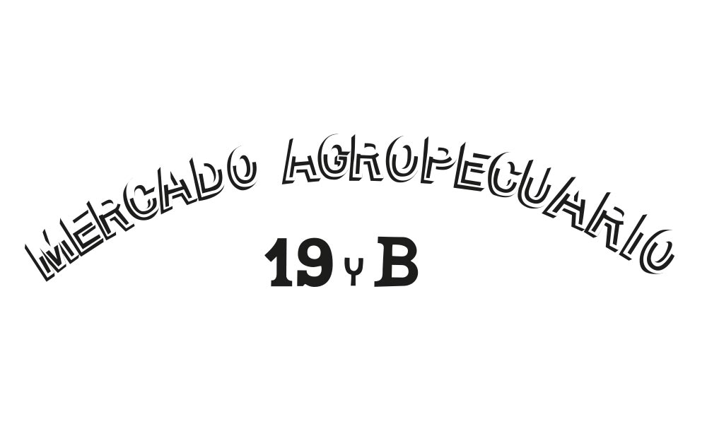 Types of Cuba Typography Mercado agropecuario 19 y B - Björn Siems